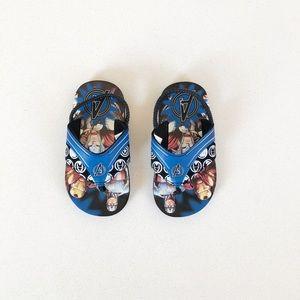 NWOT Avengers Flip Flops